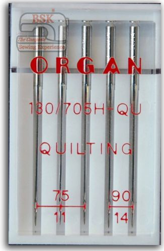 Organ Sewing Machine Needles 130/705 Quilting Mix Size 75-90 BLB540